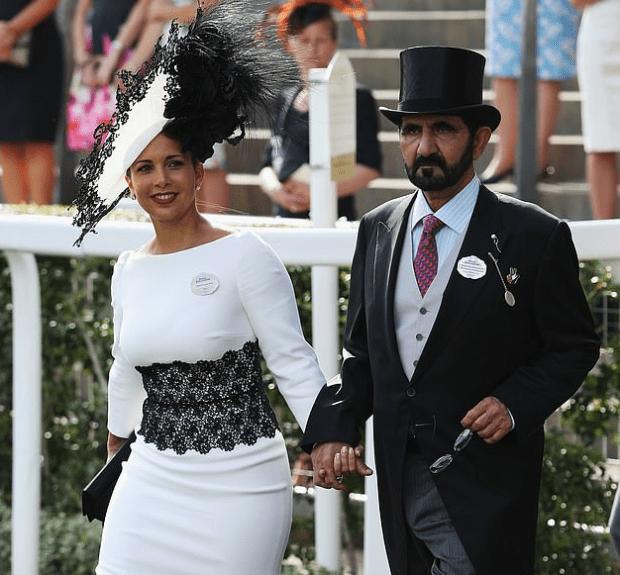 Sheikh Mohammed bin Rashid al-Maktoum and his young wife Princess Haya bint al-Hussein 1