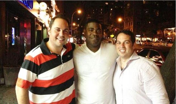 David Kimowitz [right], with Tracy Morgan [center] 1