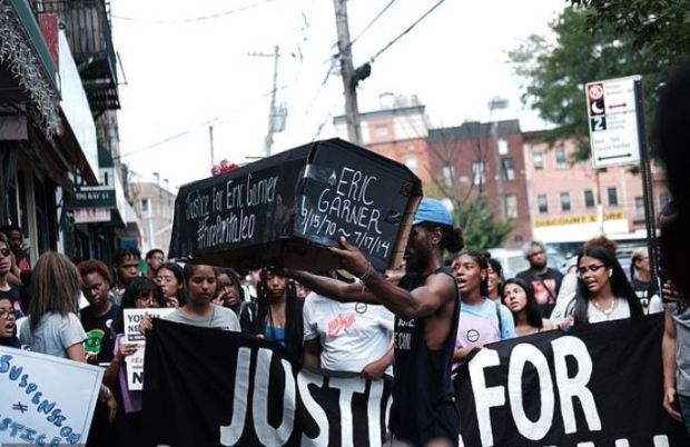 NY students and youth activists rally to commemorate the lives of Garner and Delrawn Small.JPG