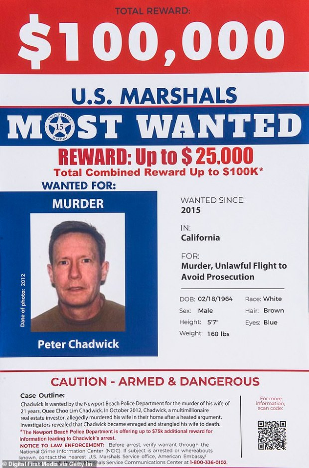 Peter Chadwick wanted person poster from FBI 1