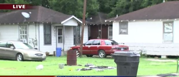 Police search the home where some of Brittany Burfield's items were found in Houston 1