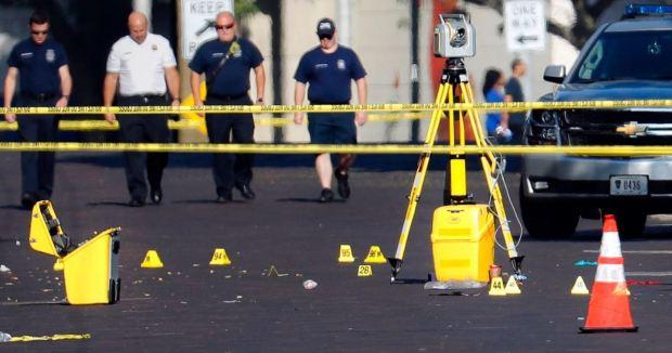 Spent sheels after Dayton, Ohio shooting.JPG
