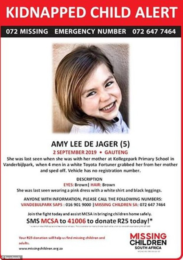 Amy-Leigh de Jager missing person flyer 1