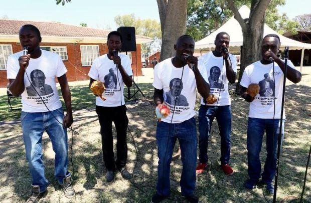 Choral group sing and dance at Robert Mugabe 2