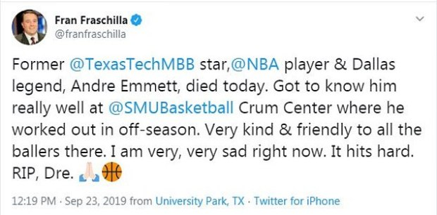 Fran Frasch, former Manhattan St Johns and New Mexico head coach reacts to murder of Andre Emett