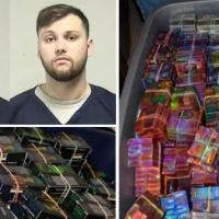 Wisconsin brothers Tyler Thomas Huffhines and Jacob David Huffhines, arrested, after cops uncover illegal THC-infused vaping empire the brothers ran from rented condo - Cops found 120K vape cartridges, eight guns, 57 mason jars filled with liquid THC and $59,000 in cash