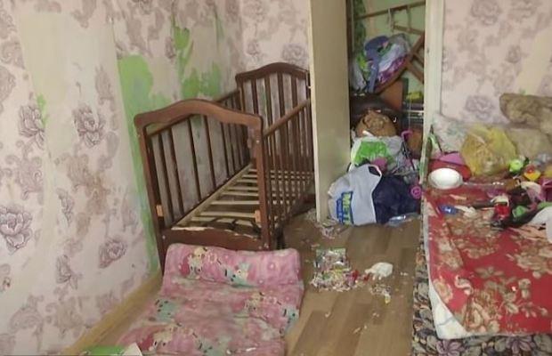 Vladislava Trokhimchuk's filthy home 1