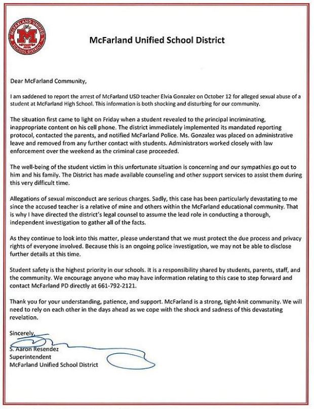 Letter by McFarland School District to parents 1.JPG