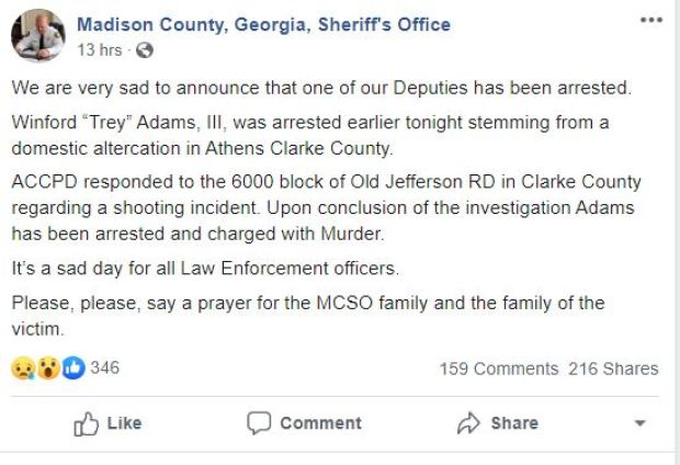 Madison County tweet on officer related fatal shooting 1.JPG