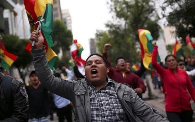 Protests against Bolivia President Evo Morales in La Paz on Nov 5.JPG