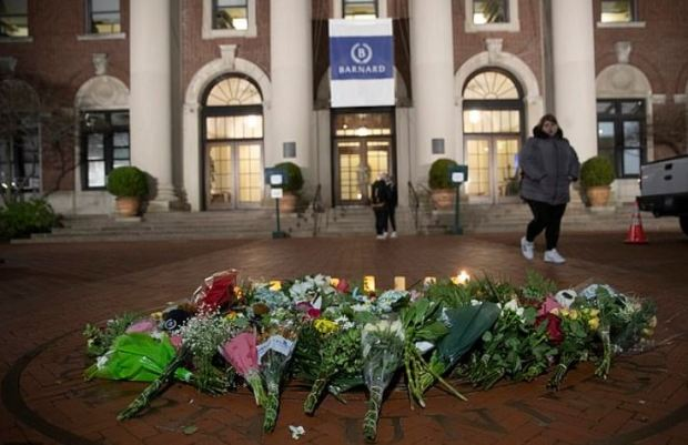 Tributes were left at Barnard College in Majors' memory 1