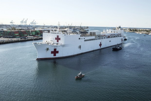 USNS Mercy in the Port of Los Angeles 4