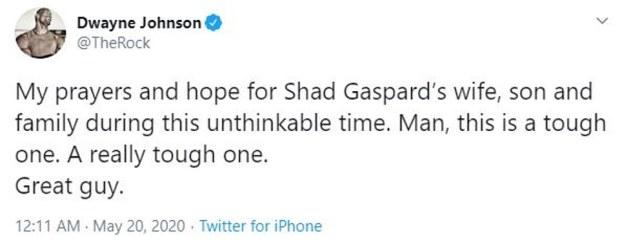 Dwayne Johnson post on Ahad Gaspard death 1
