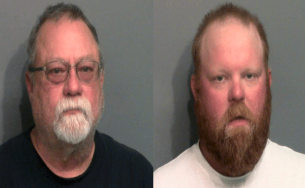 Gregory McMichael [left] and Travis McMichael 4