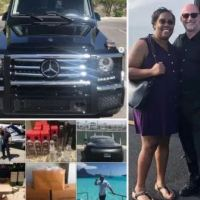 Vegas couple charged with fraud after   flaunting wealth in tacky online videos -Latisha and Tim Harron allegedly 'stole identities of dead people to defraud Medicaid of $13m' which they blew on a private jet, luxury cars, designer goods and vacations