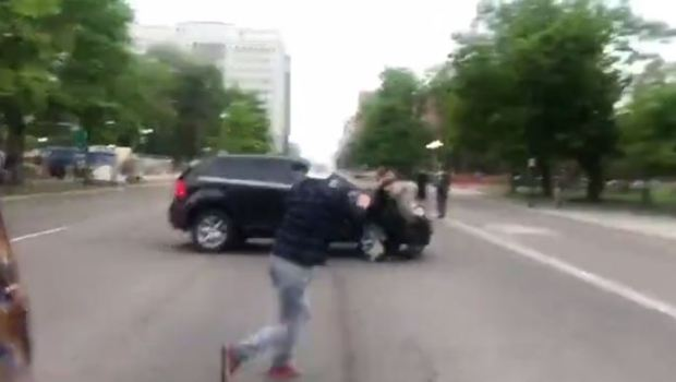 SUV driver targets and runs over Justice 4 George Floyd protester 3