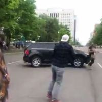 """""""Coloradans are better than this,"""" says shocked Gov. Jared Polis after video shows Denver driver appearing to target man with car as George Floyd protest grows violent"""