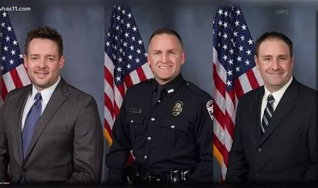 Sgt. Jonathan Mattingly (left) and Officers Brett Hankison (center) and Myles Cosgrove (right) 1