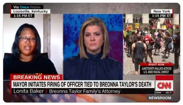 Lonita Baker, a lawyer for Breoona Taylor's family, on CNN