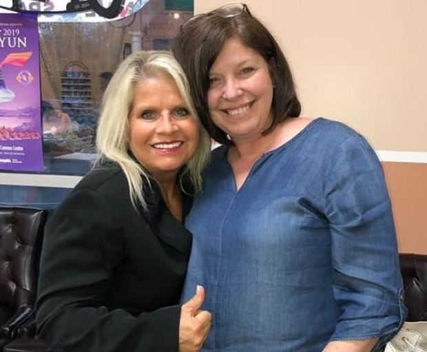 Rebecca Lynn O'Donnell, [right], convicted for murder of Senator Linda Collins [left] 2