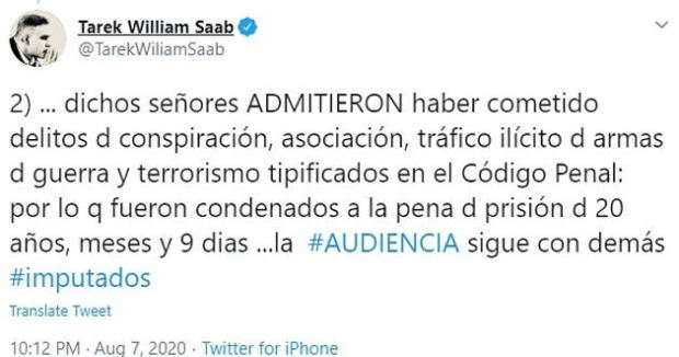 Tarek William Saab tweet 2