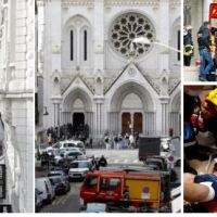 Terror wave hits France as Jihadist murders three Christian worshippers, beheading two, inside Notre Dame Basilica - Attacker identified as 21-year-old Tunisian visitor, Brahim Aouissaoui