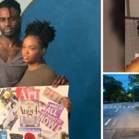 New York man, Joey Charles, charged with murdering his pregnant nurse practitioner girlfriend, was caught on video dumping Vanessa Pierre's body on sidewalk of an expressway and fleeing in her car