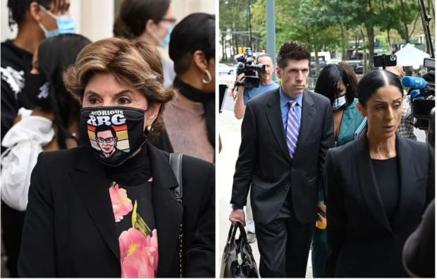 This image has an empty alt attribute; its file name is Gloria-Allred-left-and-R.-Kellys-lawyers-arrive-in-Brooklyn-High-Court-1.jpg