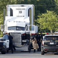 "James M. Bradley Jr booked for ""an alien smuggling venture gone horribly wrong"" - Cops found ten dead, dozens more suffering from heat-related injuries in trailer left in San Antonio Walmart parking lot, Sunday"