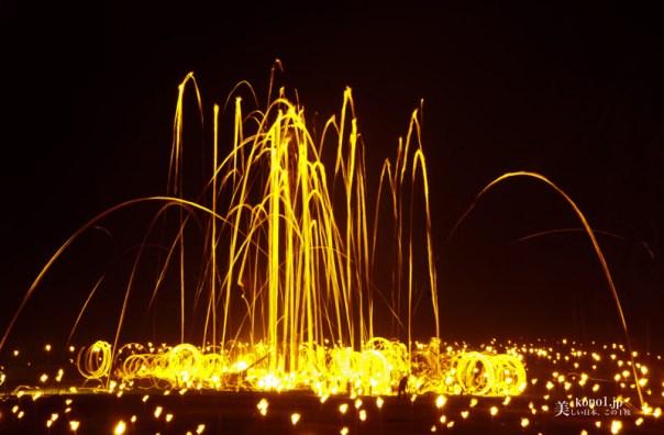 京都 花背の松上げ 火祭 松明 鯖街道 精霊送り 火災予防 五穀豊穣祈願