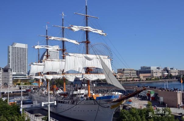 横浜市 みなとみらい 初代日本丸 総帆展帆 そうはんてんぱん 日本丸メモリアルパーク