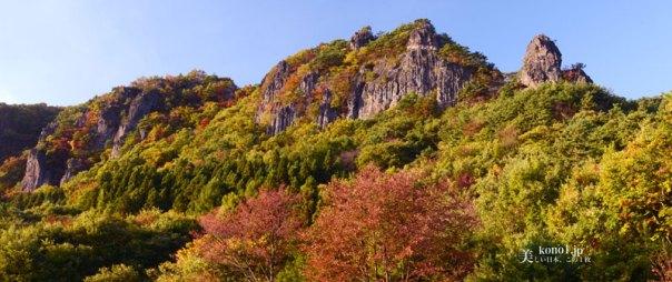 福島県伊達市 霊山 りょうぜん 紅葉 修験山
