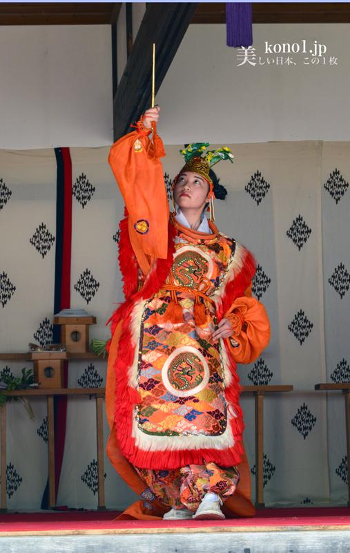 栃木県日光市 平家大祭  雅楽蘭陵王  湯西川温泉 平家の里 2016