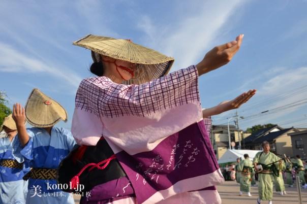 おわら風の盆 越中八尾駅 福島支部の踊り