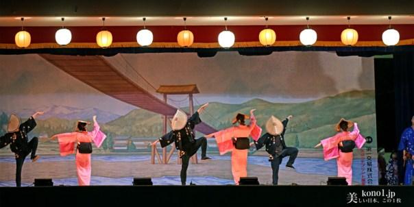 おわら風の盆 越中八尾 西新町支部の踊り おわら演舞場
