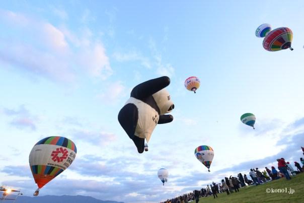 佐賀熱気球世界選手権2016 WorldHotAirBalloonChampionship2016 佐賀 熱気球 競技 キャラクター パンダ タコ 白雪姫