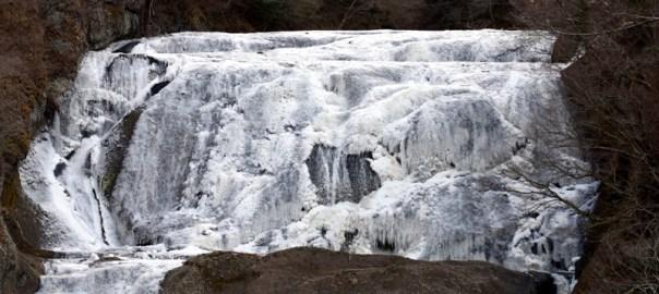 袋田の滝 日本三大瀑布 凍結 氷結 恋人の聖地 ハート