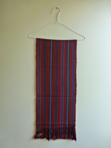 "3. $25.00 Measure: 11.5"" x 50"" (plus fringe) Very soft. Hand washable. Amount available: 1 unit From San Gaspar Chajul, Quiché. Woven by Ixil-Maya women, of Asociación Chajulense."