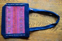 """$35.00 Measure: 8""""H x 11"""" W with a 23"""" Strap. With full zipper closure and an inside pocket plus two external zippered pockets on the back. Hand washable. Amount available: 1 unit From Todos Santos Cuchumatán, Huehuetenango, Guatemala. Woven by Mam-Maya women members of Asociación Todos Santos"""