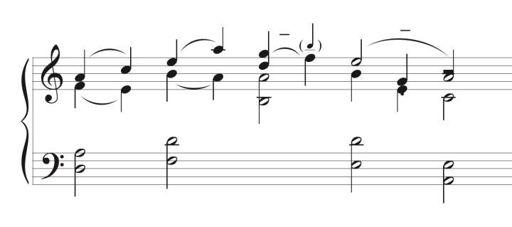 Fragmento de una partitura de Federico Mompou