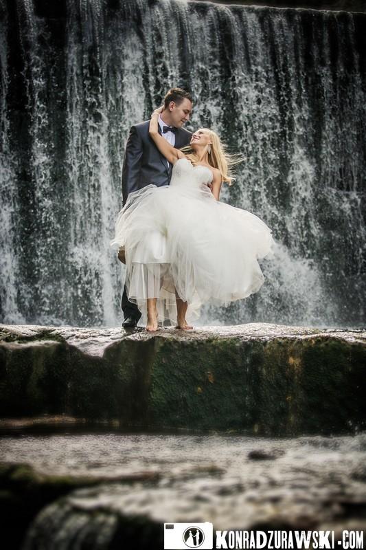 Cudowna para - Adrianna i Grzesiek. Fotograf ślubny Jelenia Góra - Konrad Żurawski