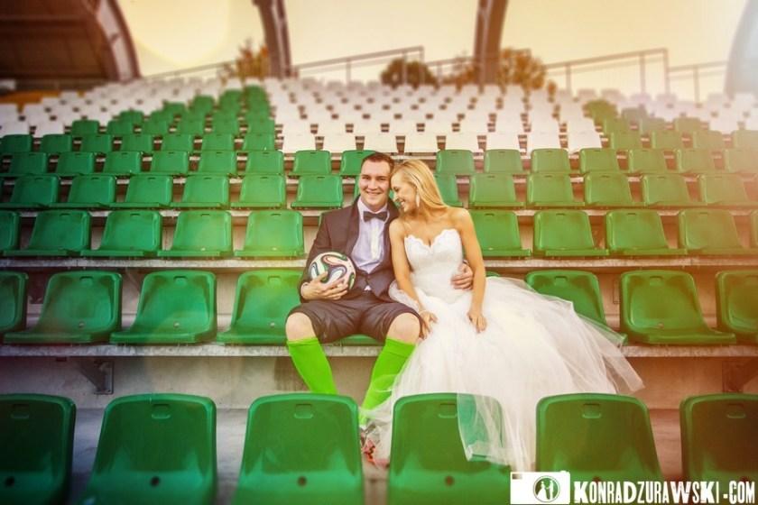 Najszczęśliwsi kiedy są razem - Adrianna i Grzesiek. Fotograf ślubny Jelenia Góra - Konrad Żurawski