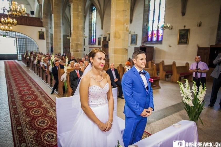 W trakcie ceremonii ślubnej uśmiechom także nie było końca   Konrad Żurawski
