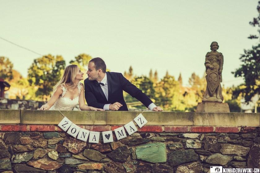 Żona i mąż, czyli Magda i Marcin w czasie pleneru ślubnego w okolicach Jeleniej Góry | Konrad Żurawski