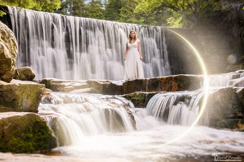 Ślubna sesja plenerowa przy Dzikim Wodospadzie w Karpaczu | Konrad Żurawski