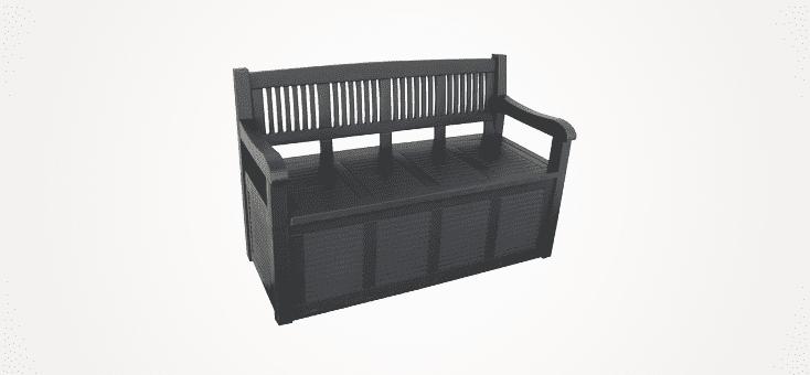 outdoor garden storage benches