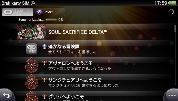 Soul Sacrifice Delta trofea