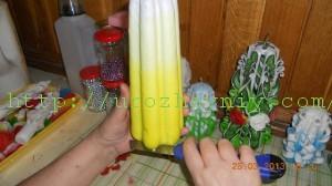 Hogyan díszítsünk egy gyertyát. A gyertyák saját kezű készítésének titka: viasztól gélig