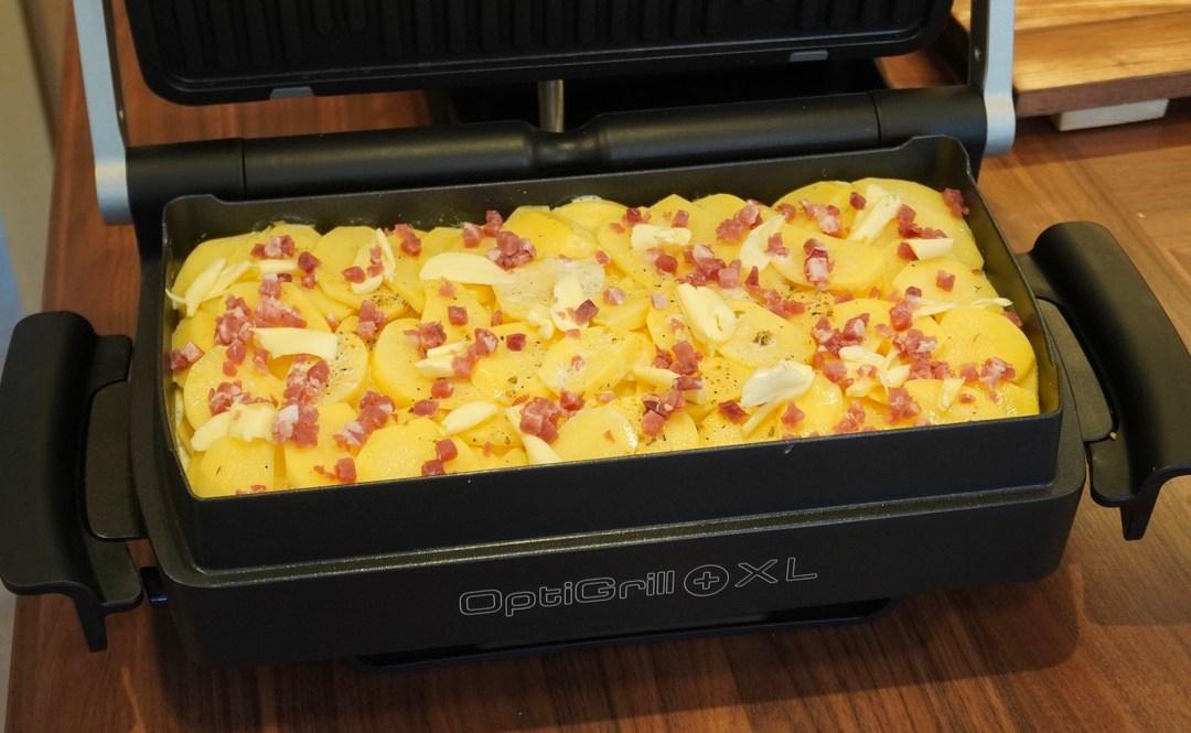 Kartoffelgratin im Tefal OptiGrill
