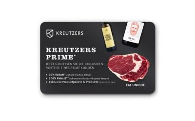 Danke an alle Follower: Kreutzers Prime im Wert von 99,99 EUR geschenkt!